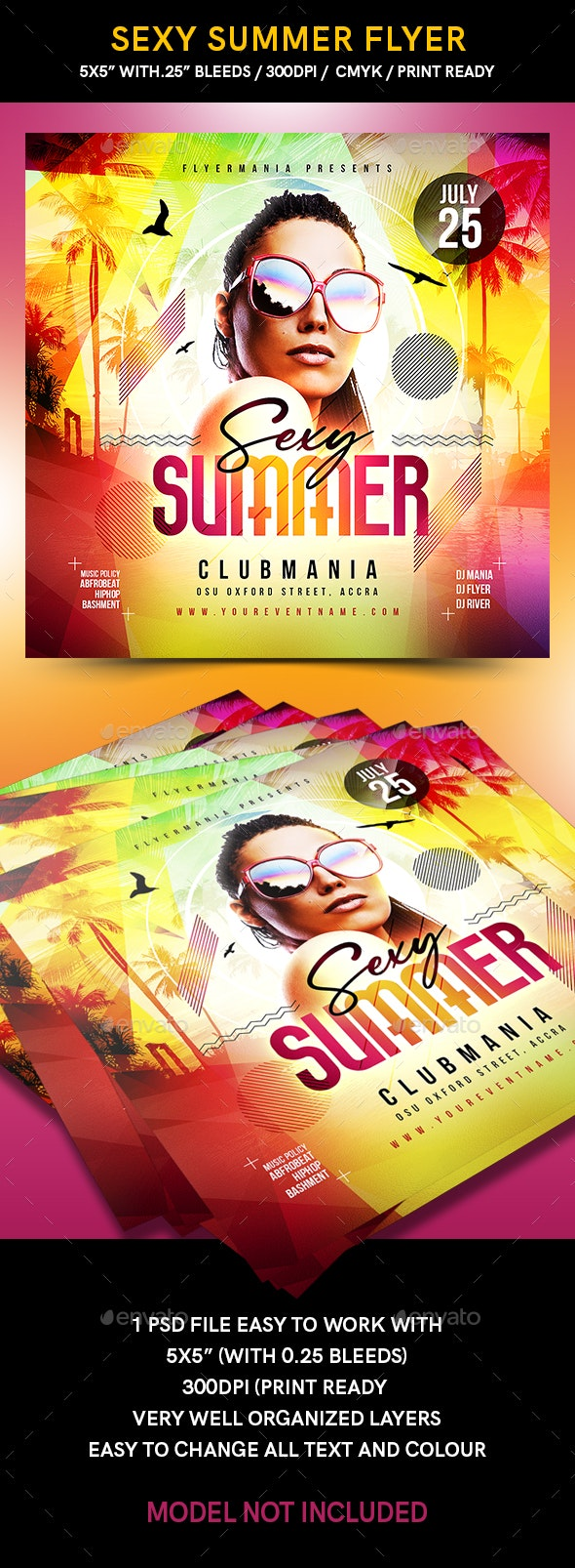 Sexy Summer Flyer - Flyers Print Templates
