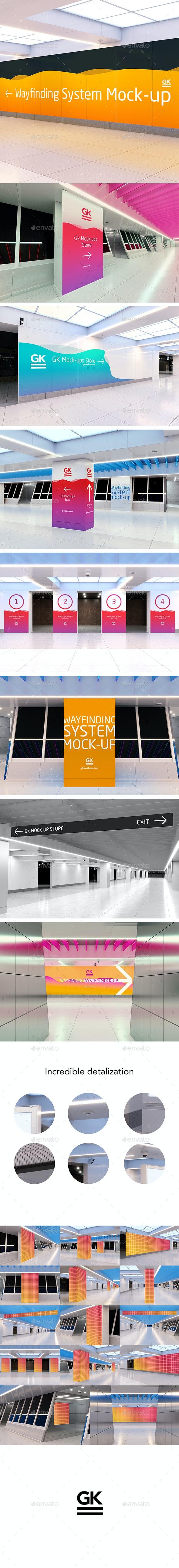 Navigation / Wayfinding Mock-up - Ad Station Series - Signage Print