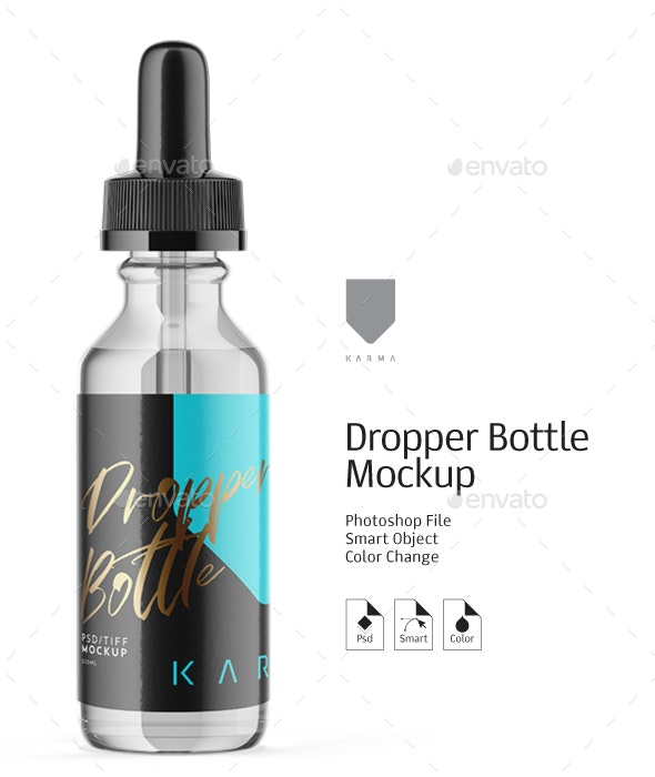 Dropper Bottle Mockup Glass 14 - Packaging Product Mock-Ups