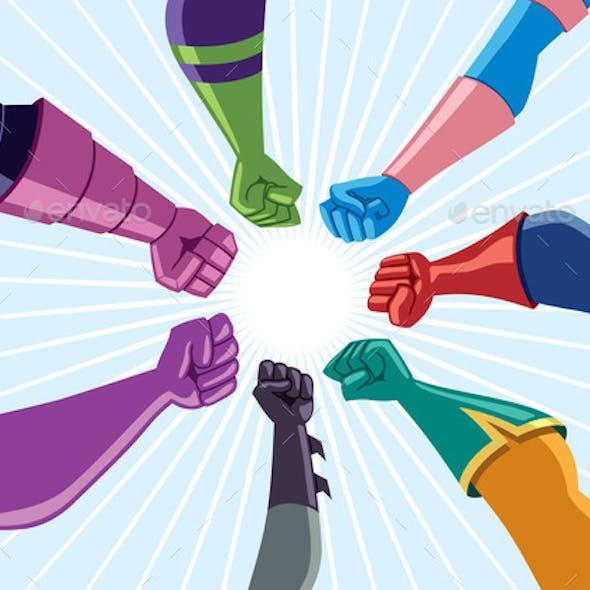 Superhero Team Assemble