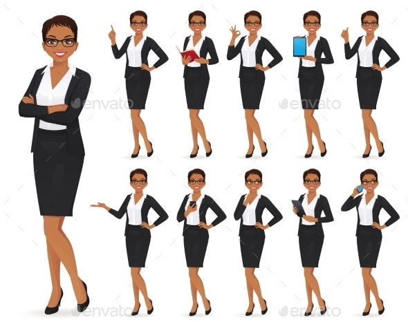 Businesswoman Character Set - People Characters