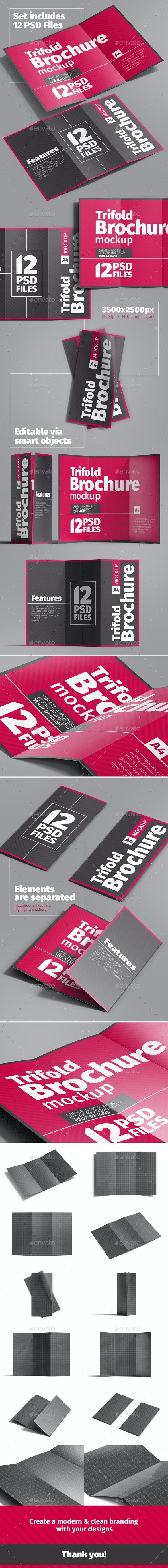 Trifold Brochure (A4) Mockup - Brochures Print