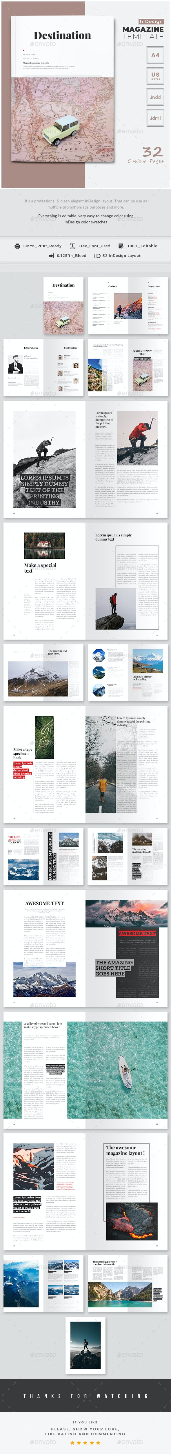 Destination Magazine Template - Magazines Print Templates
