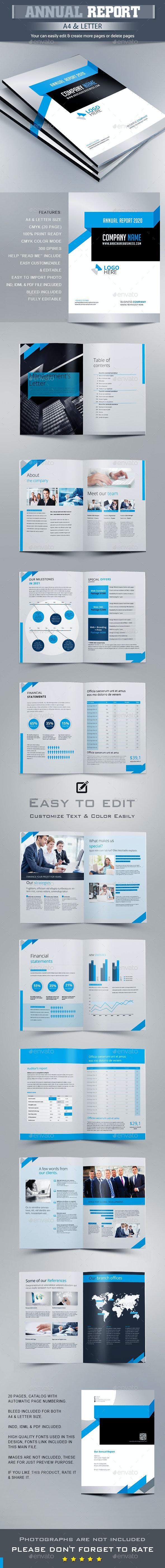 Annual Report Brochure - Brochures Print Templates