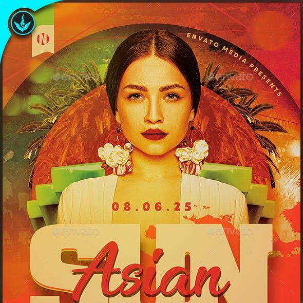 Asian Sun Party Flyer Template