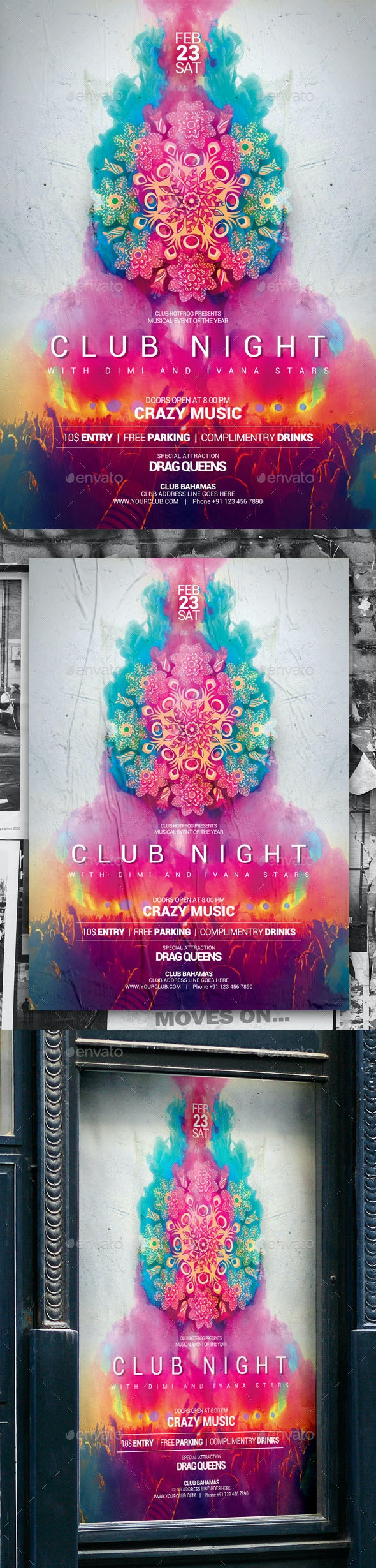 Club Night Poster - Events Flyers