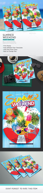 Summer Weekend  Flyer - Clubs & Parties Events