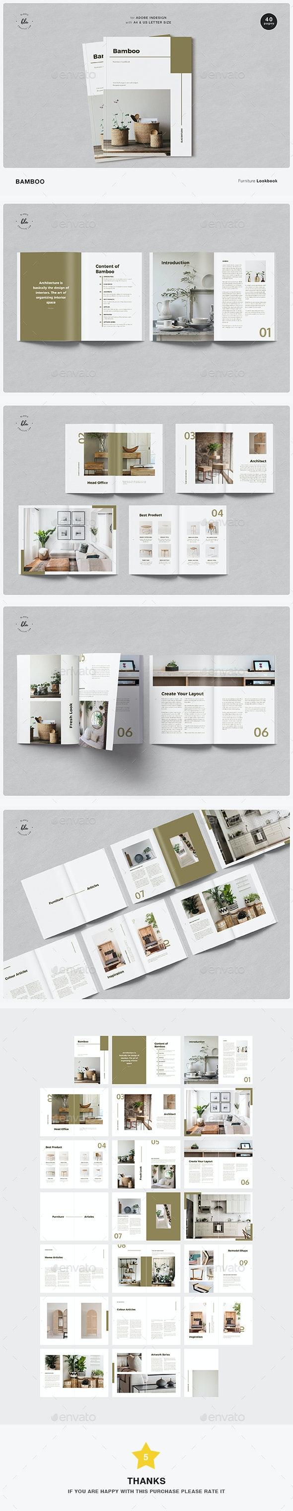 Bamboo Furniture Lookbook - Magazines Print Templates