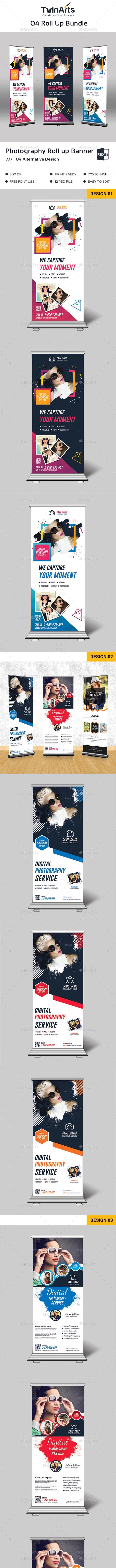 Roll Up Banner Bundle. - Signage Print Templates