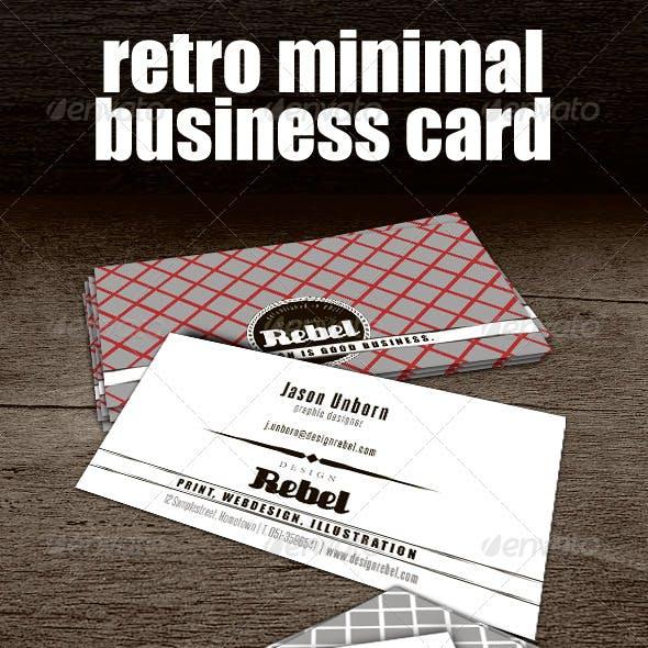 Retro Minimal Business Card