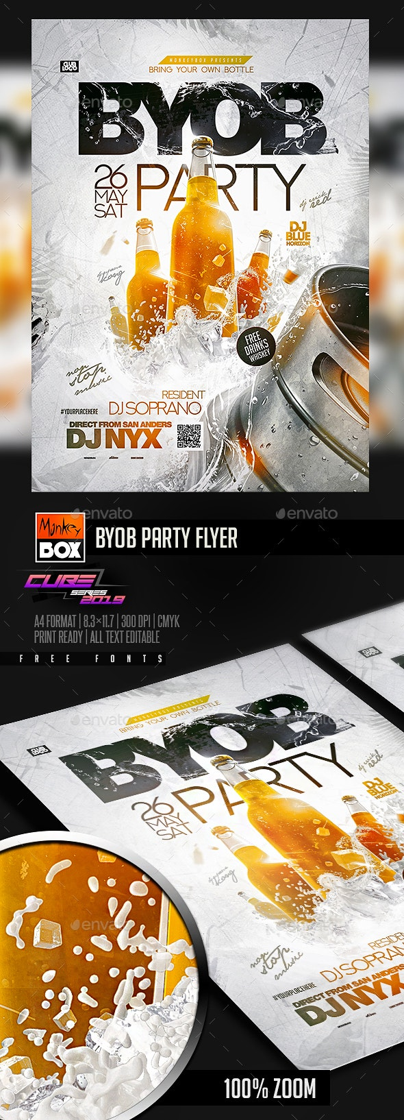 BYOB Party Flyer - Clubs & Parties Events