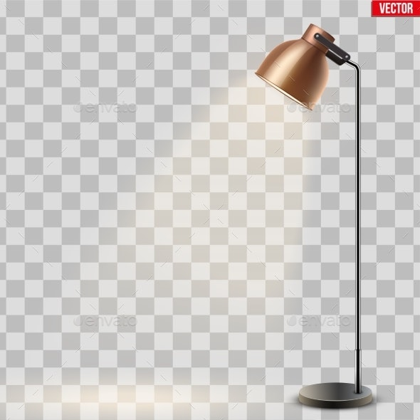 Decorative Metal Floor Lamp - Man-made Objects Objects
