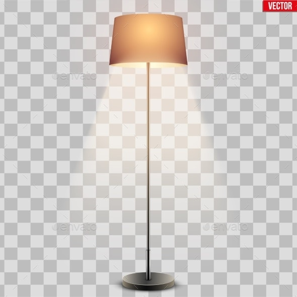 Classic Floor Lamp with Shade - Man-made Objects Objects