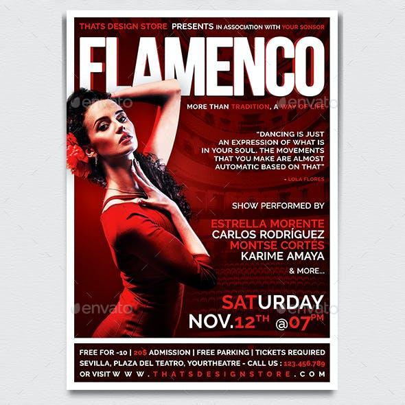 Flamenco Flyer Template V1