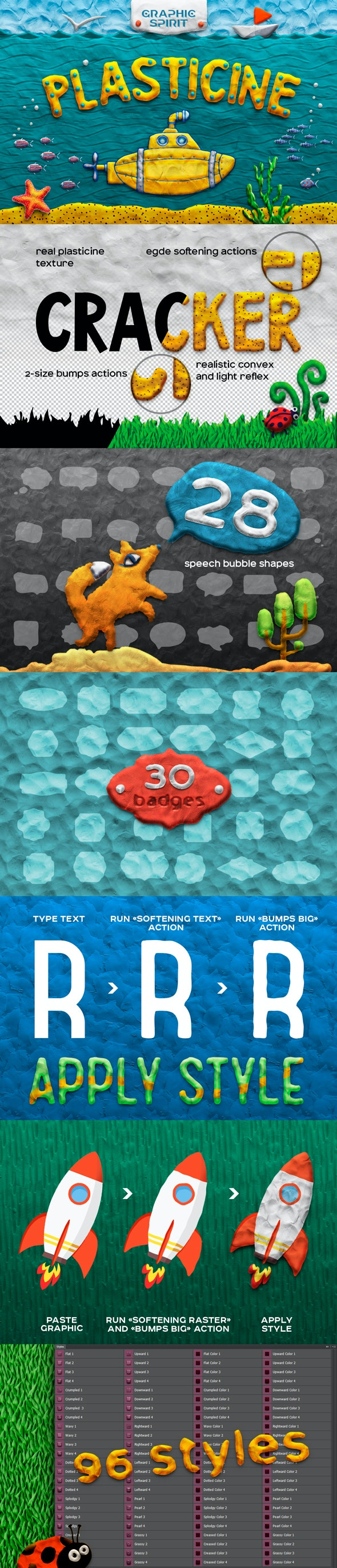 Plasticine Photoshop Toolkit - Text Effects Actions