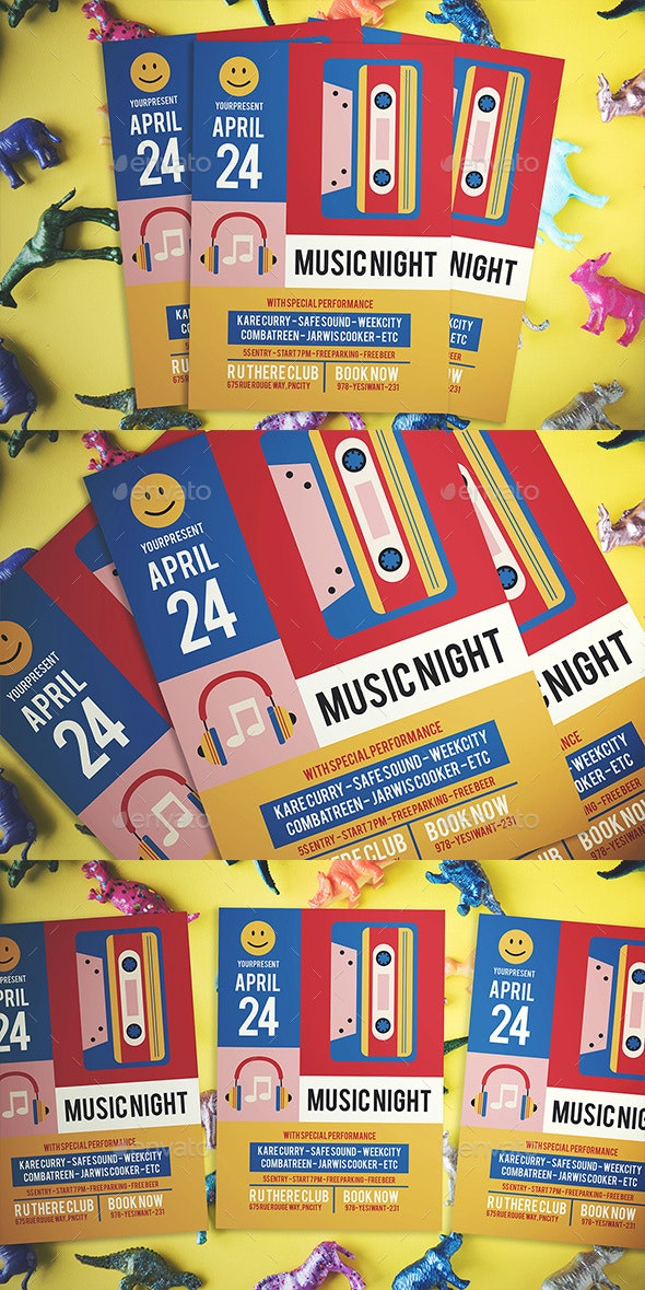 Indie Music Night Flyer - Flyers Print Templates