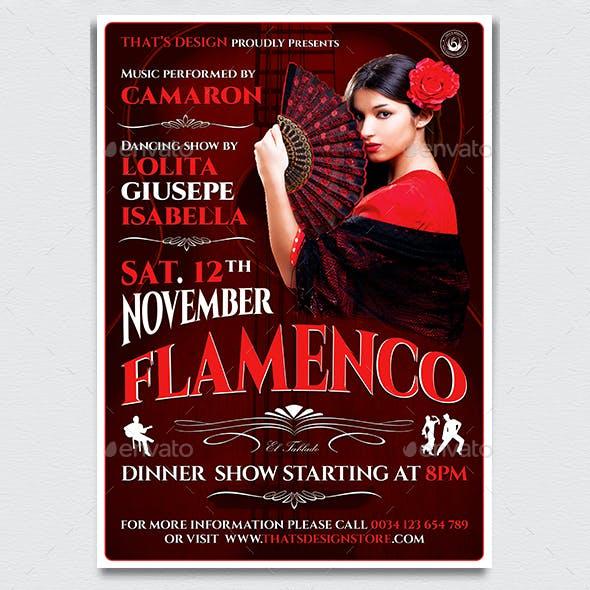 Flamenco Flyer Template V2