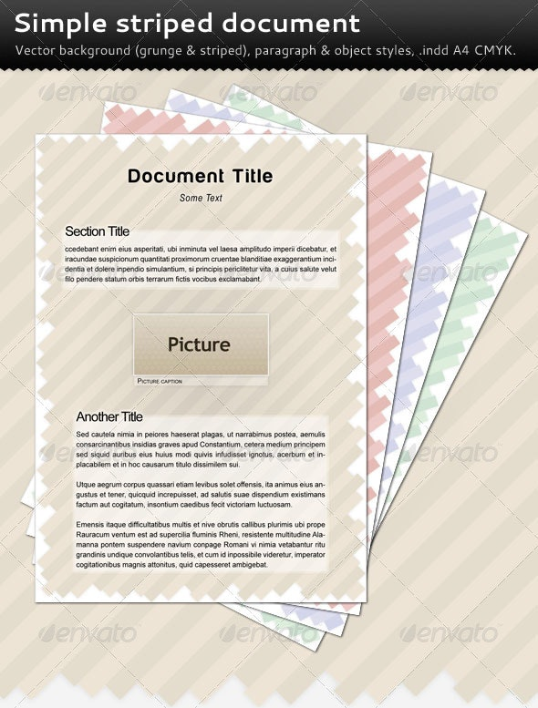 Simple Striped Document - Miscellaneous Print Templates