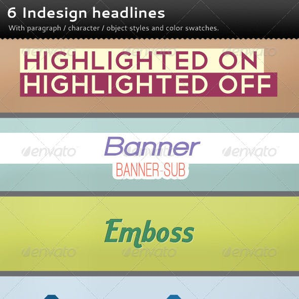 6 Indesign Headlines