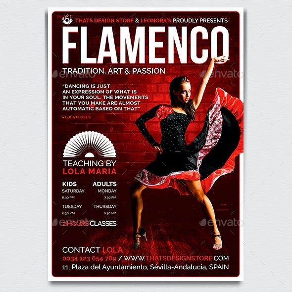 Flamenco Flyer Template V3