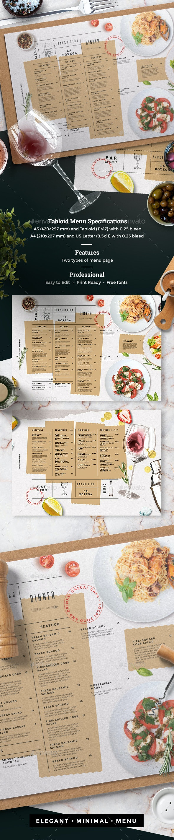 Menu - Food Menus Print Templates