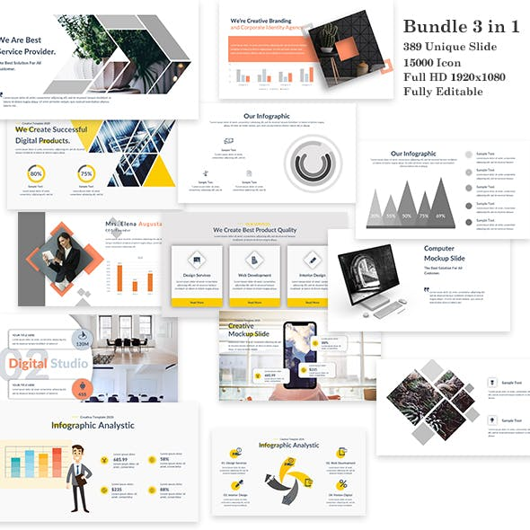 3 in 1 Bundle Power Creative Google Slide Template