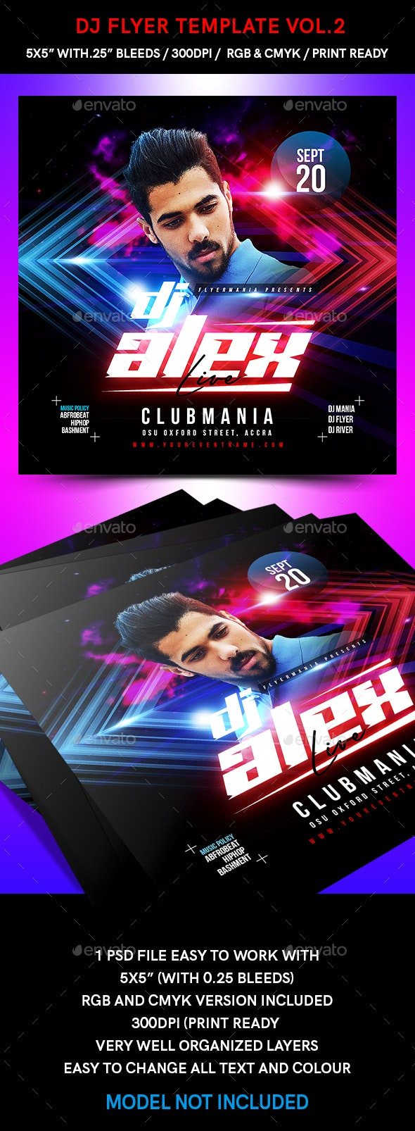 DJ Flyer Template Vol.2 - Flyers Print Templates