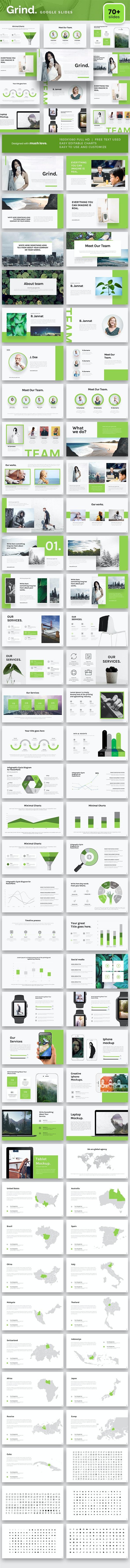 Grind Google Slide Template - Google Slides Presentation Templates