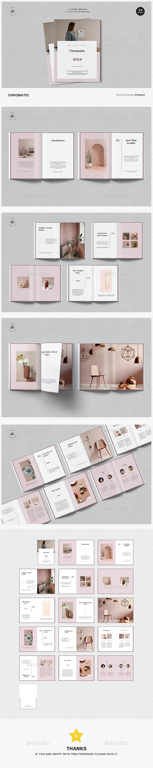 Chromatic Business Proposal - Magazines Print Templates