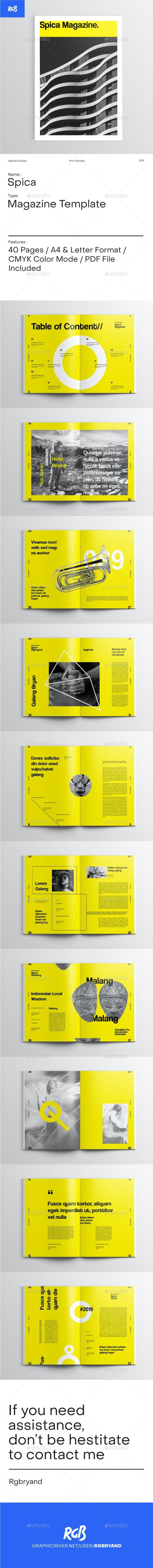 Spica Swiss Magazine - Magazines Print Templates
