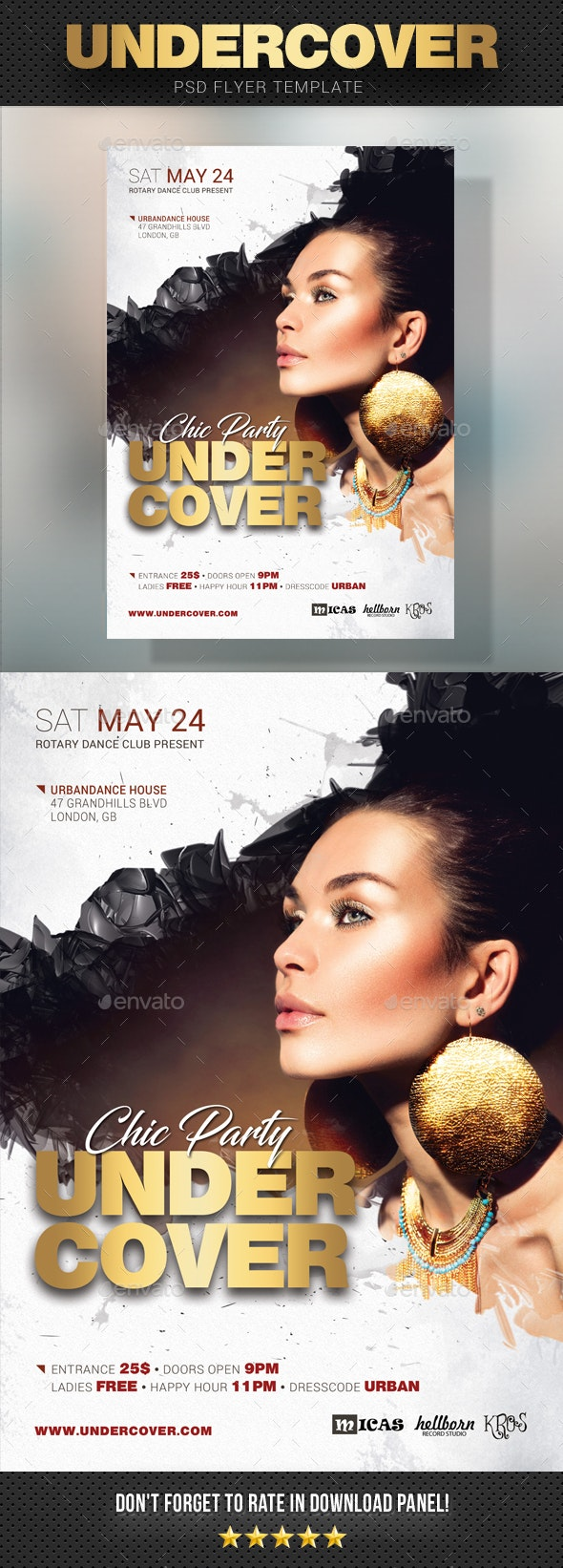 Undercover Party Flyer v3 - Clubs & Parties Events