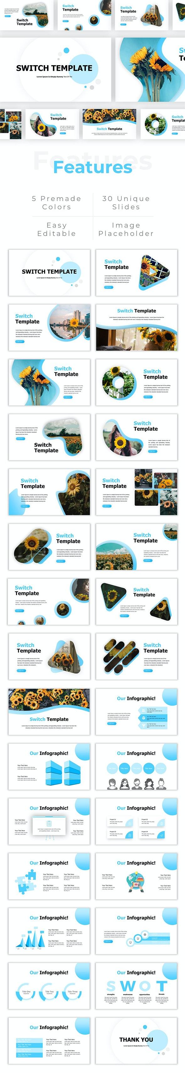 Switch - Creative Presentaion PowerPoint Template - Creative PowerPoint Templates