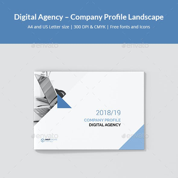 Digital Agency – Company Profile Landscape