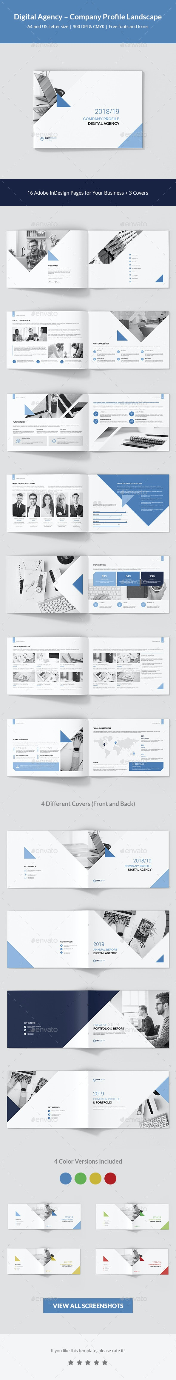 Digital Agency – Company Profile Landscape - Corporate Brochures