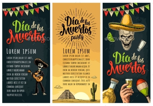 Three Vertical Poster for Dia De Los Muertos - Miscellaneous Seasons/Holidays