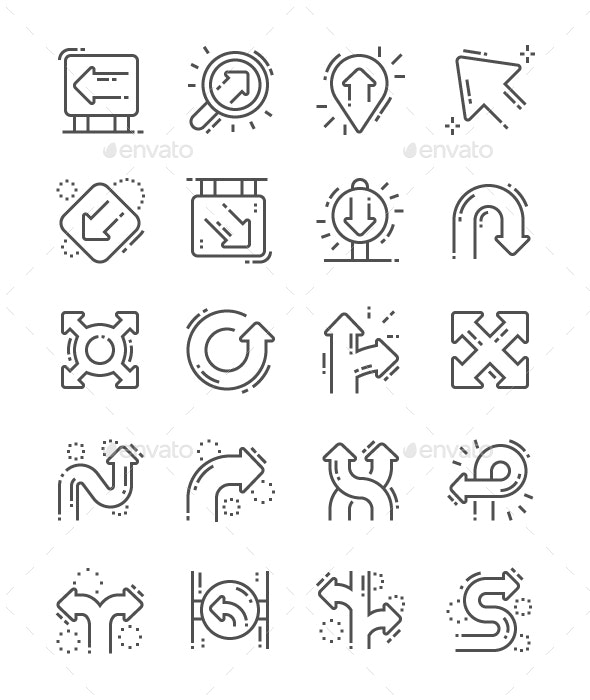 Direction Line Icons - Miscellaneous Characters