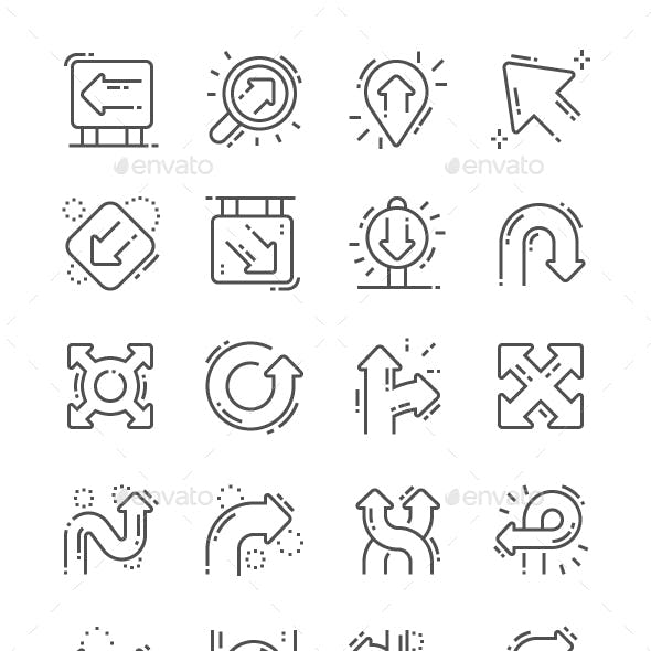 Direction Line Icons