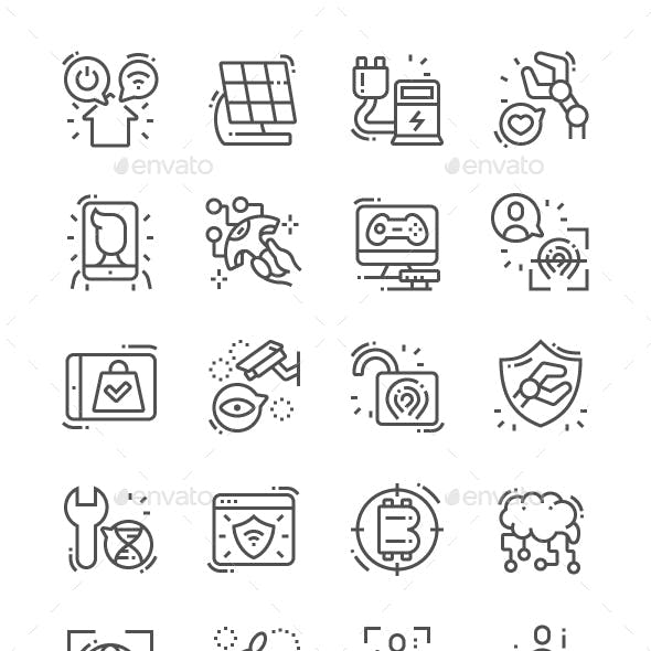 Future Industry Line Icons
