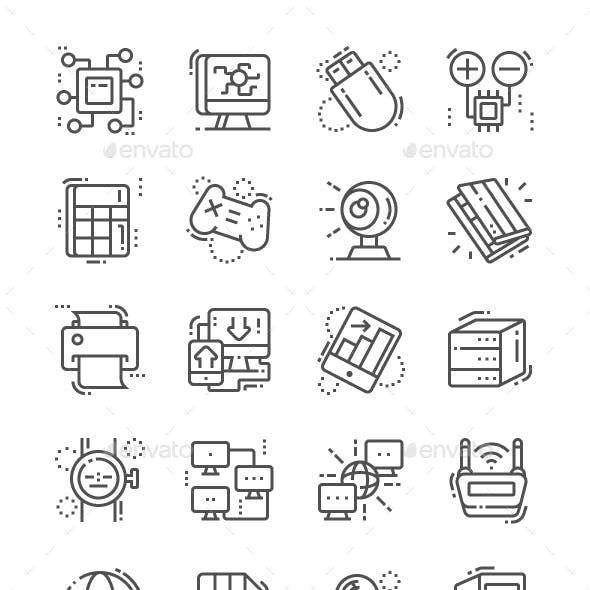 Computer Engineering Line Icons