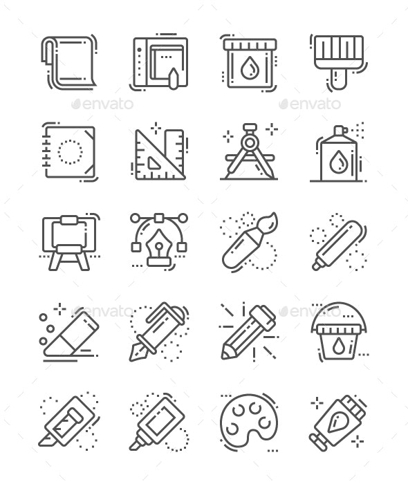 Paint Line Icons - Technology Icons