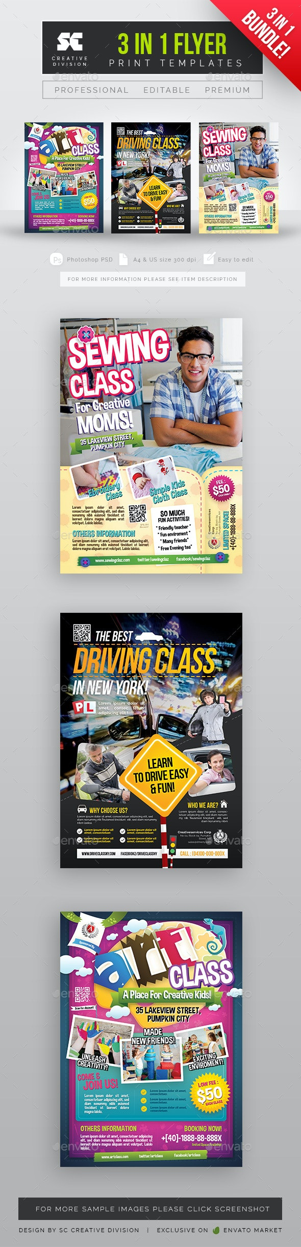 Class Flyer Bundle 3 in 1 - Miscellaneous Events