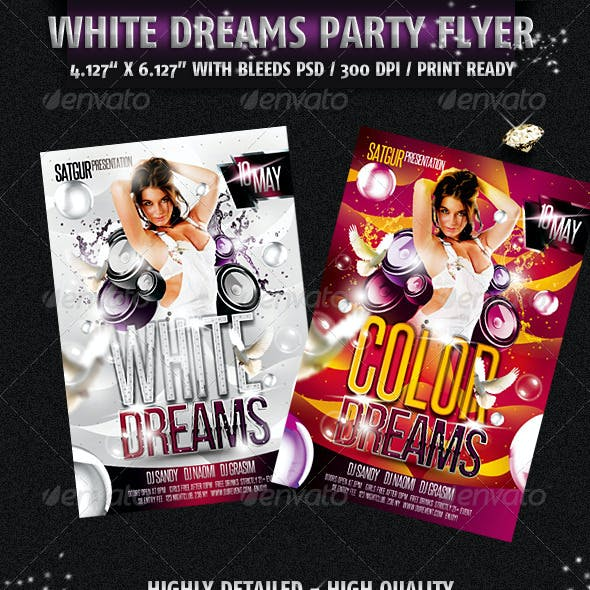 White Dreams Party Flyer