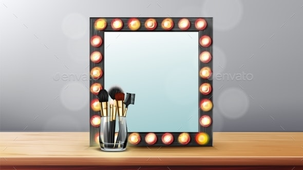 Vanity Mirror Vector - Man-made Objects Objects