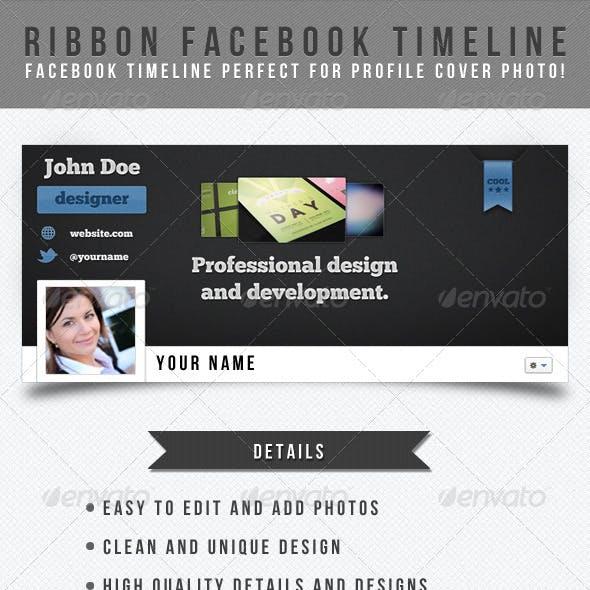 Ribbon Facebook Timeline Template