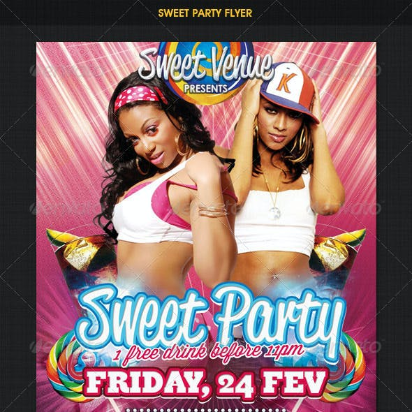 Sweet Dance Party Flyer
