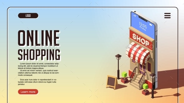 Online Shopping Concept - Web Technology