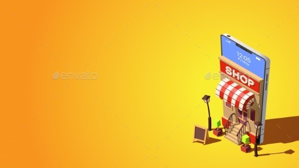 Online Shopping Concept - Backgrounds Business