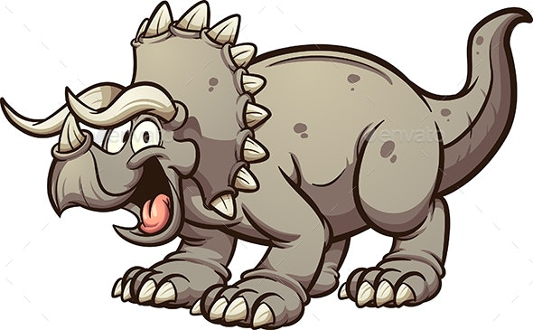 Triceratops Dinosaur - Animals Characters