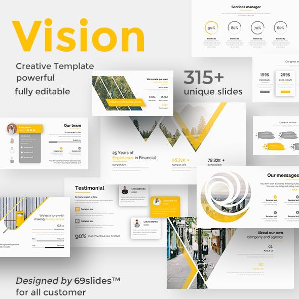 Vision Board Pitch Deck Google Slide Template