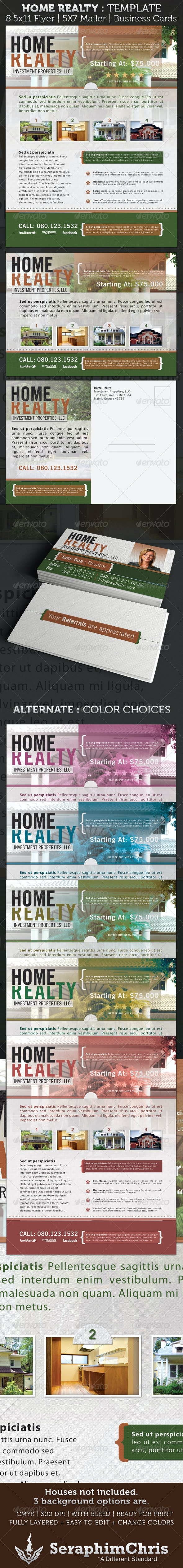 Real Estate Advertisement Package Template - Corporate Flyers